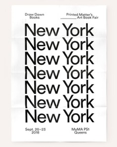 NY Art Book Fair Poster (2018)
