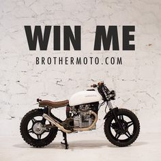 $10 donation and she could be yours! The money is going towards purchasing tools for our community shop. More info and to enter at www.broth #brothermoto #bratstyle #cx1 #giveaway #custom #culture #cx500 #caferacer #scrambler #motorcycle