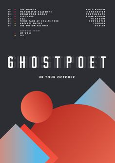 Ghostpoet UK Tour Poster #uk #ghostpoet #james #poster #kirkup #tour