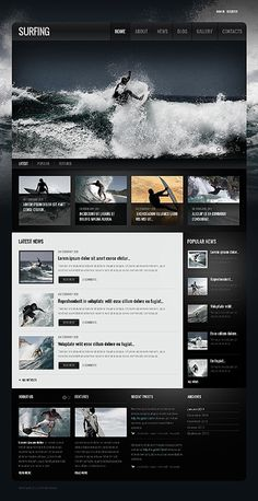 WebDesign / Surfing repinned by www.BlickeDeeler.de #surfing #design #interface #website #layout #web
