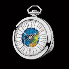 This is the first time Montblanc has created a pocket watch: #Montblanc 4810 Orbis Terrarum Pocket Watch Transatlantic