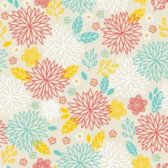 Floral Meadow on Behance #pattern #summer