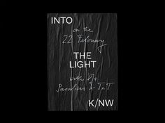 Bureau Collective – Into the Light #handwriting #poster