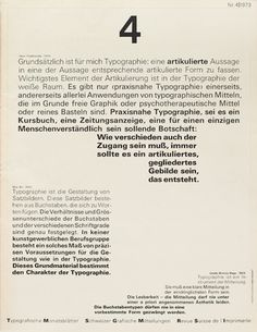 Cover from 1973 issue 4 Typographische Monatsblätter Wolfgang Weingart #cover #tm #wolfgang
