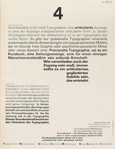 Cover from 1973 issue 4 Typographische Monatsblätter Wolfgang Weingart