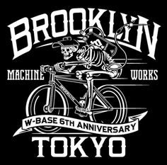 Brooklyn Machine Works #bikes #skeleton #white #black #typography
