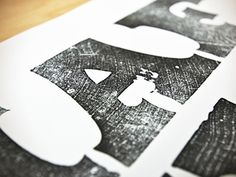 Dribbble - Wood Type A by Bill S Kenney #woodcut #type #letterforms