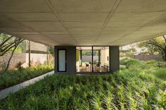 concrete and a flexible plan characterize W design's home studio