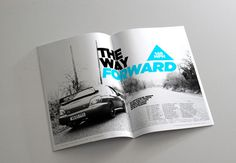 Project PRX Magazine on Behance #layout #swiss design #photography #brochure #magazine #gotham #clean #triangle #car #automotive #mono #swis
