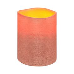 Copper Metallic Distressed Textured Wax LED Flameless Candle, 8 x 10 cm
