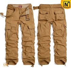 Mens Cotton Cargo Hiking Travel Pants CW100036