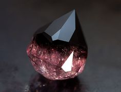 gem, space #pink #gem #stone #black