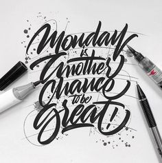 Monday is your fresh start, go ahead and crush your week. Lettering by @luislili