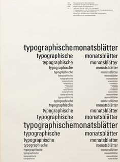 Cover from 1961 Typographische Monatsblätter issue 2