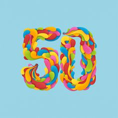 50 on Behance #illustration #lettering #birthday #50