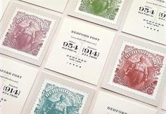 Graphic-ExchanGE - a selection of graphic projects #businesscards #stamps #vintage