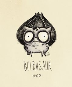 If Pokemon were drawn by Tim Burton #illustrations #pockemon