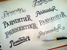Parmentier lettering #drawn #hand #typography