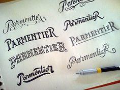 Parmentier lettering