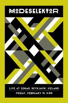 Modeselektor Concert Poster #poster #geometric #gig poster #pattern #bright #concert poster #tribal #modeselektor