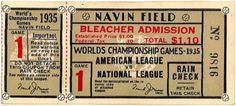 a time to get: Vintage Baseball Tickets #vintage #baseball