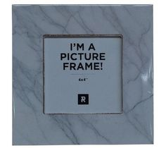 Marble Look Photo Frame White 16cm x 16cm