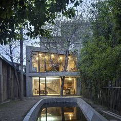 CJWHO ™ (Tea House, Shanghai, China by Archi Union...) #concrete #house #design #interiors #china #architecture #library #tea
