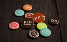 Unique partnerships create a new brand and new experience for 'Fiji Airways'. #branding #fiji #futurebrand #airline #badges