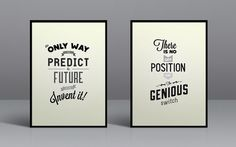 Typography prints #frame #quote #print #typography #poster #grey