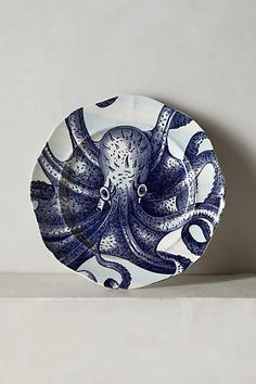 From The Deep Side Plate, Octopus, Anthropologie