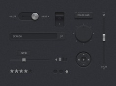 Dark ui kit Free Psd. See more inspiration related to Ui, Dark, Interface, Ui kit, Horizontal and Kit on Freepik.