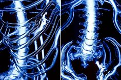 Embodiment: A Neon Skeleton by Eric Franklin #skeleton #light #neon