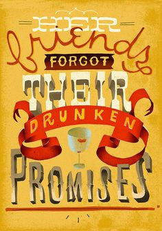 Drunken promises #type #lettering #hand