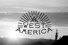 West America by LAND #land #type #typographic #custom #logo #typography