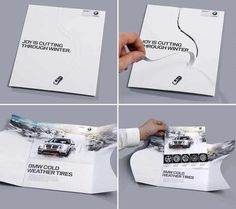 BMW Cut through #direct mailing #bmw