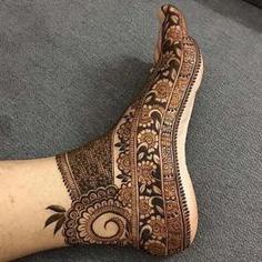 Foot Mehendi Design Ideas