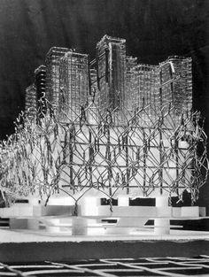 Lyrical Theatre in Cagliari, Maurizio Sacripanti, 1965 #model #architecture