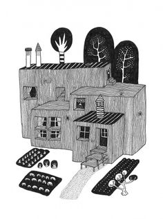 Slowear : Klas Ernflo #illustration #blackandwhite #klasherbert