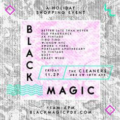 Black Magic / Namesake #print #layout #pattern