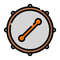 See more icon inspiration related to drum, bodhrán, music and multimedia, folk, Irish, percussion instrument, musical instrument and orchestra on Flaticon.