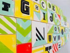 FFFFOUND! | Modern Baby Nursery Alphabet Artwork | Oh So Beautiful Paper