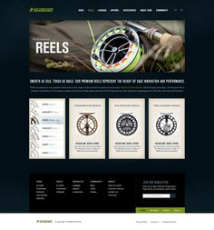 Sage Fly Fishing on Web Design Served #josh #design #ashton #fishing #web