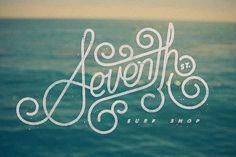 Seventh St. Surf Shop #logo #lettering #vintage #texture