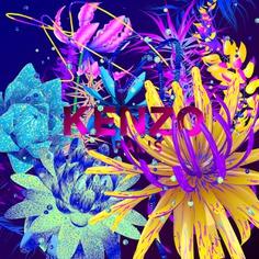 Kenzo flowers, experimental graphics designed by Andrei Robu www.robu.co