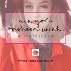 Birchbox at NYFW #script #red #nyfw2013 #birchbox #promo #fashion #nyfw #typography