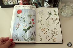 Sketchbooks on Behance #illustration #sketchbook #flowers