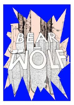 a poster that made under bearwolf project ..grr #bearwolf #meekay #poster #project