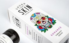 Under Your Skin #packaging #tatoo #care #cream #illustration #skull