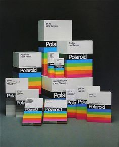Vintage Polaroid Packaging #packaging #vintage #polaroid