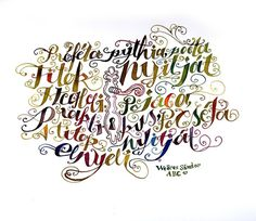 poems in calligraphy on the Behance Network #illustration #lettering #watercolor #typography